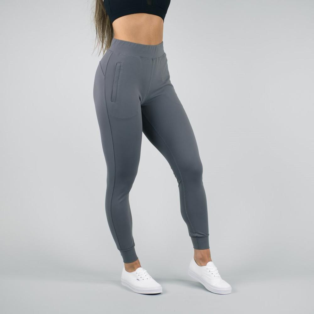 4-way stretch nylon spandex pantaloni pista per le donne di alta qualità slim fit jogging su ordine all'ingrosso usura di ginnastica