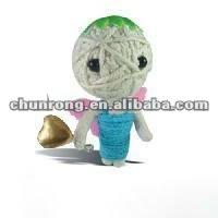 little handmade fabric voodoo string dolls,baby angel doll