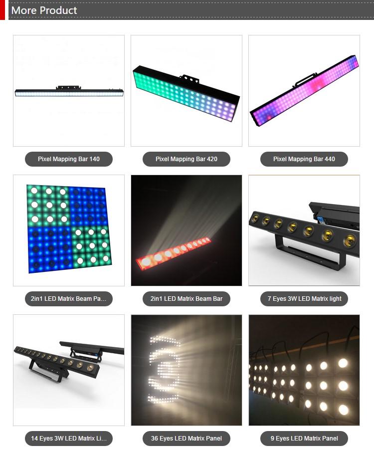 1meter 160 tri-color SMD 5050 RGB LEDs portable dmx led stage bar light