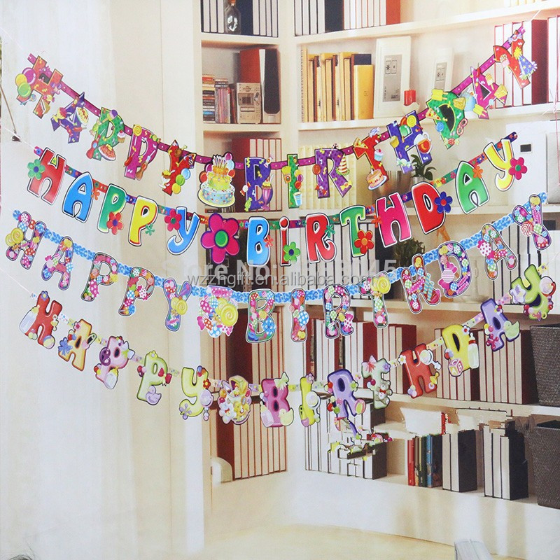 Diy Felt Pennant String Flags Star Banner For Wedding Birthday