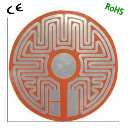 flexible silicone rubber heated mat for 3d printer with etched foil heating element