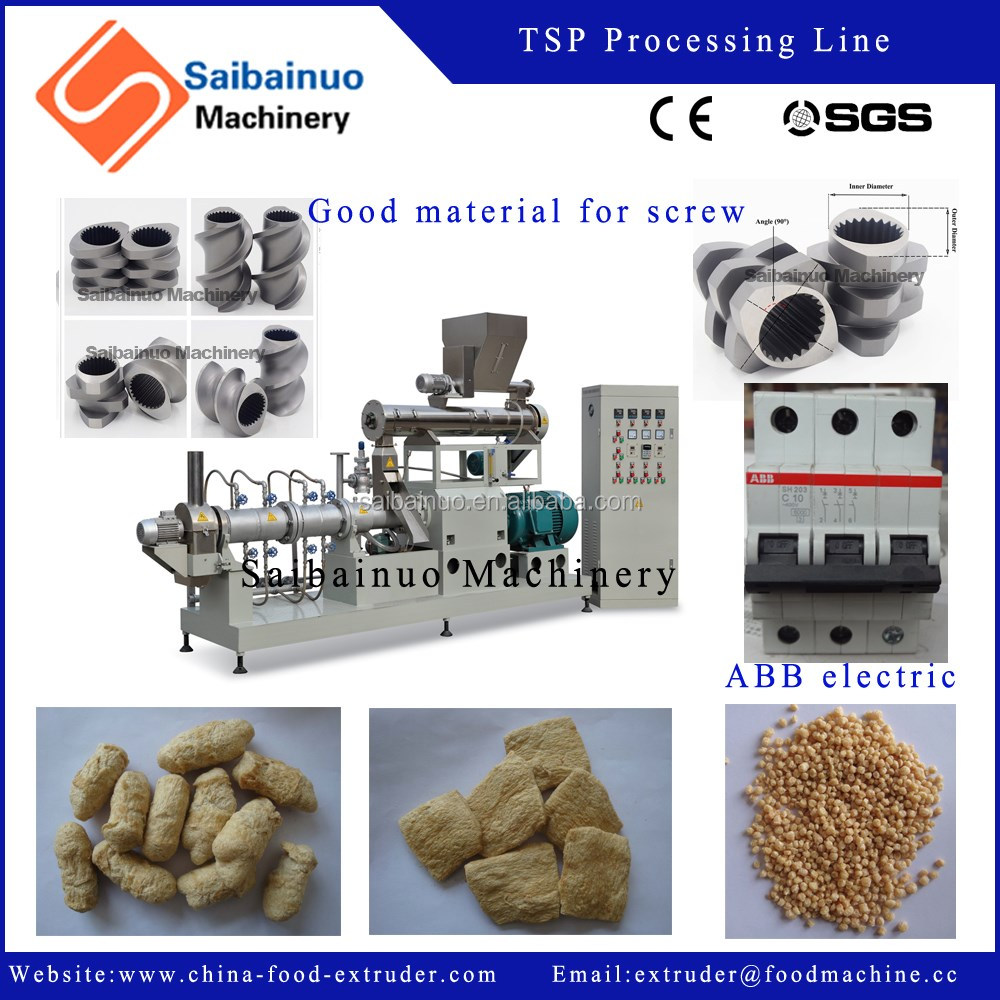 big capacity CE certificate soya texturized processing line