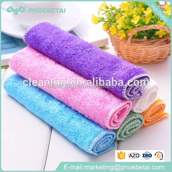 China wholesale microfiber 100% bamboo fiber wash cloth for kitchen cleaning