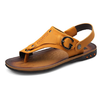 New Style Summer Breathable Slippers Online Genuine Leather Men's Sandals Buy Men Genuine Leather Sandals,Online Sandals,New Style Mens Leather