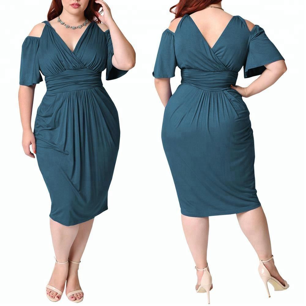 Robe africaine pour femmes, encolure en V, épaule dénudée, matière fine, Oem