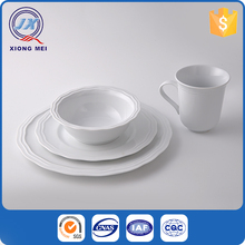 16 pcs dinnerware set round embossed porcelain dinner service with cup and plates