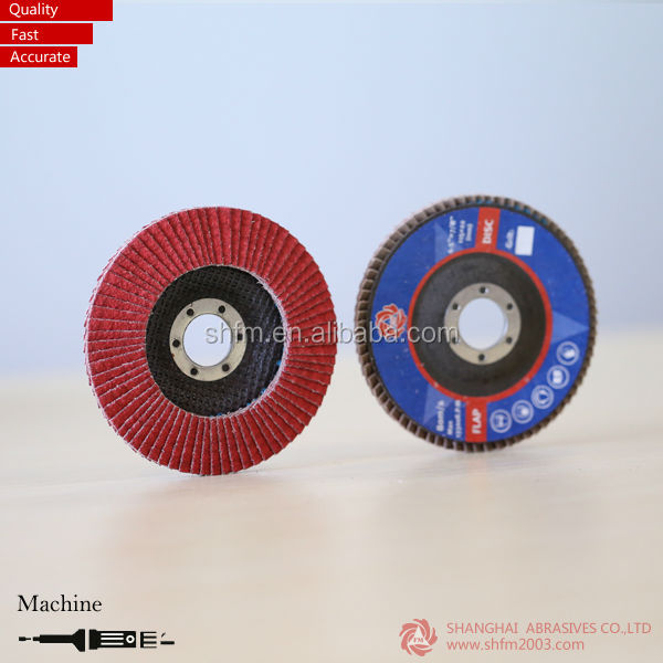 "4"" Ceramic, Zirconia Flap Discs With Fiberglass Backing (VSM Raw material )"