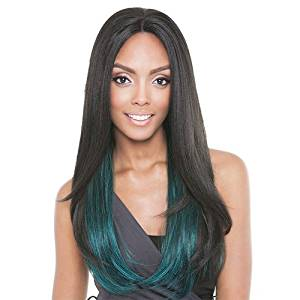 ISIS Human Hair Blend Lace Front Wig Brown Sugar French Stretch Lace BS703 Starlight (1B)