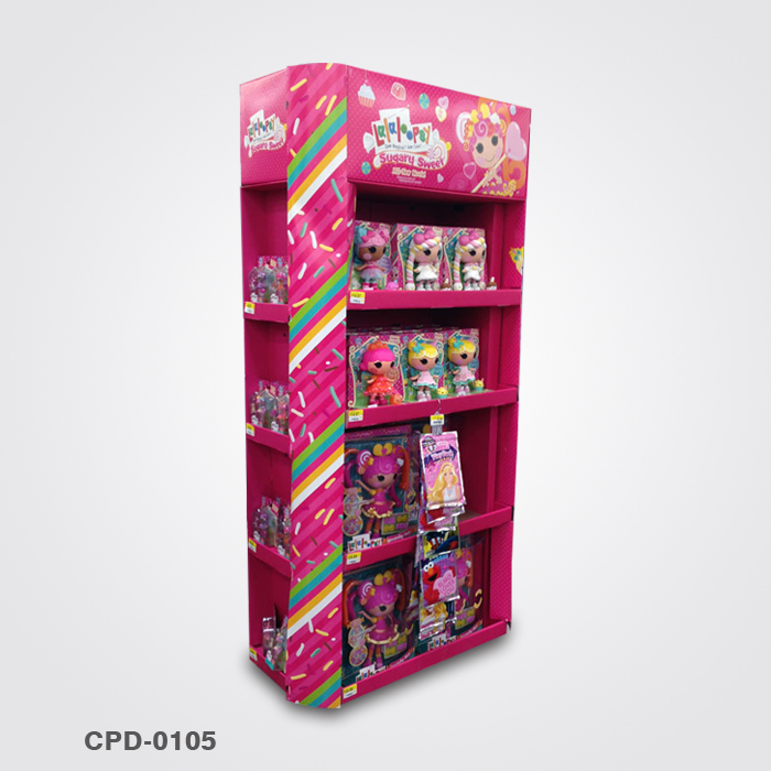Pop Cardboard Hot Toys Display Stand For Doll Display Box
