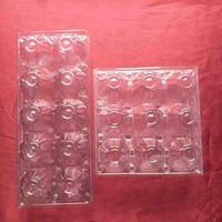 2018 Hot Sell Disposable Cheap Clear Plastic Clamshell 9/10/15 Cells Blister Packaging Box for Eggs