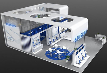 Exhibition Stand Double Decker : Double deck exhibition booth and stand wooden panel trade show stand