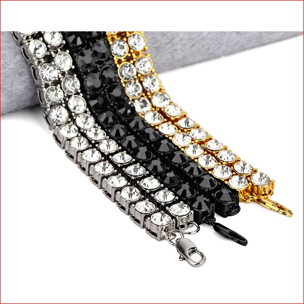 18k Gold 1 Row 8MM Lab Diamond Iced Out Chain Men/'s Hip Hop Tennis Necklace