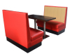 Restaurant booth sofa and dining table set
