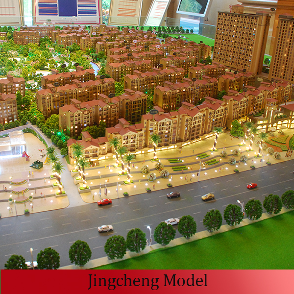 Tiny glass Villas model groups and other building models for real estate and esported to Middle East