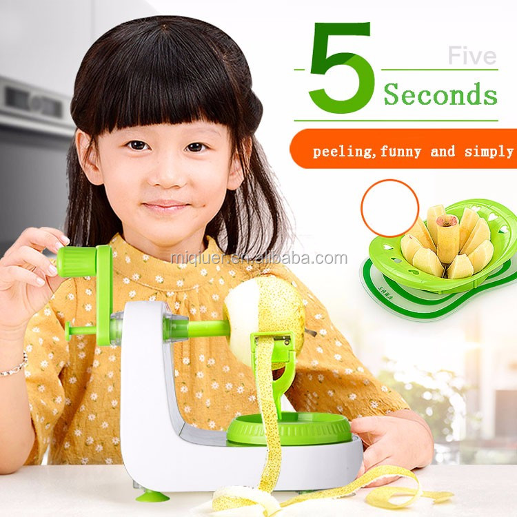 2017 new products plastic eco-friendly kitchen multi tool portable fruit food peeler