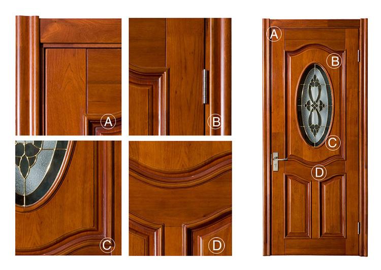Apartamento puerta exterior cristal oval inserta la puerta moderna puerta de madera con vidrio - Puertas de madera con cristal ...