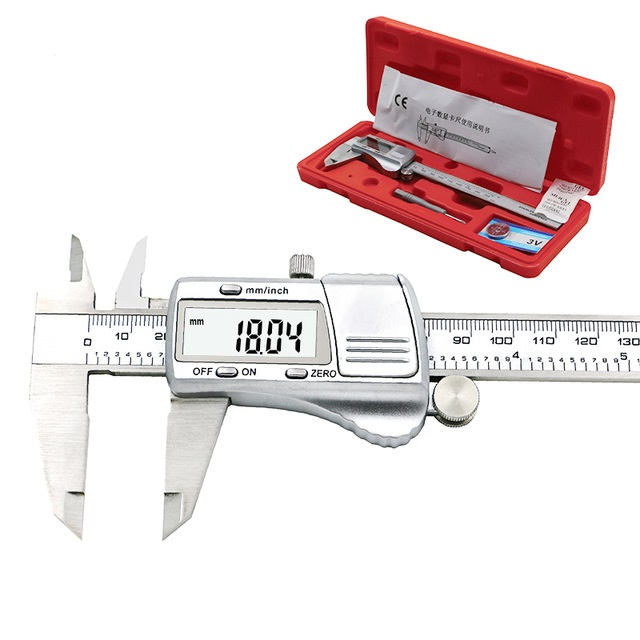 150mm//300mm Digital Ruler Caliper Made of Carbon with Long Jaw Measuring Tool for Schools Digital Electronic Caliper Carpentry 300MM Farms or Homes
