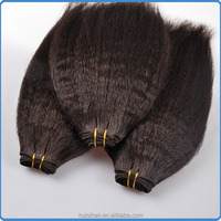 2016 charming and trending hair weave for beauty women hair apply human hair afro kinky bulk