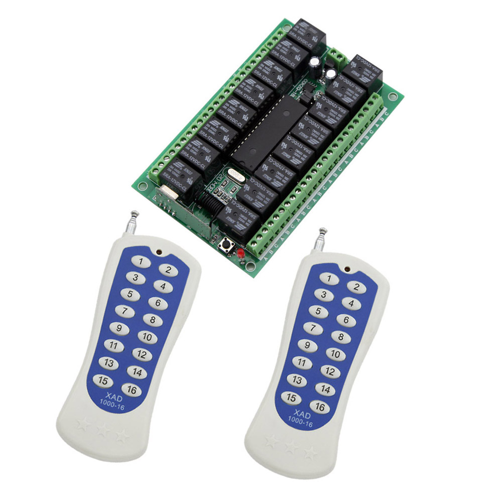 eMylo Wireless Relais DC 12 V Einkanal Smart Fernbedienung Schalter RF 433 Mhz Mit Zwei Sender