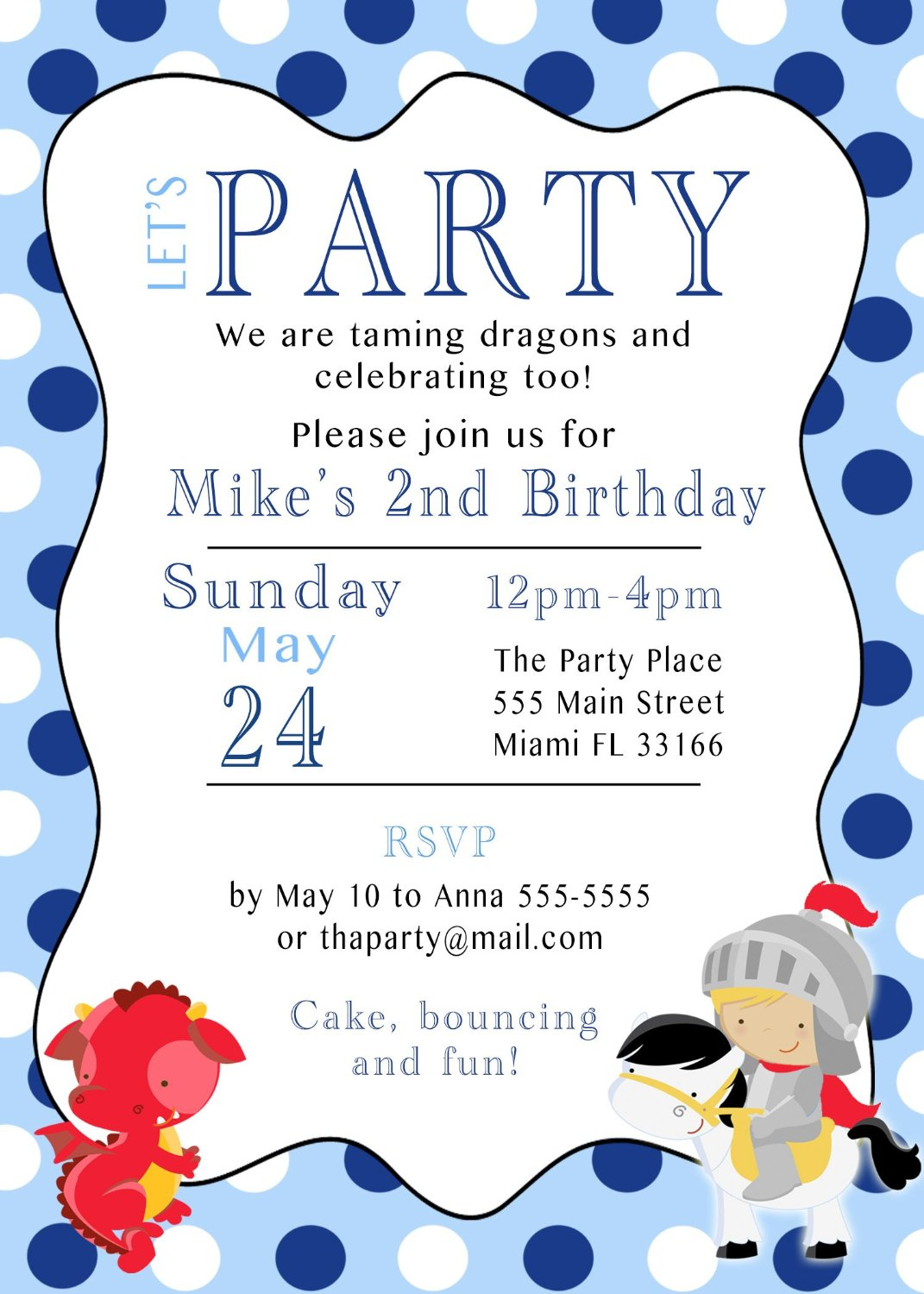 Buy Birthday Party Invitations - Colorful Dots - Print at Home in ...