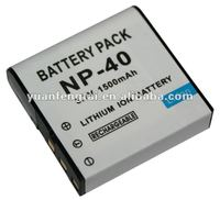 Lithium professional camera battery pack 3.7V 1500mah for Casio NP-40