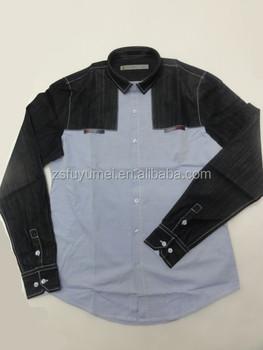 Latest Shirt Designs For Men Casual Shirt,Oxford Contrast Denim ...
