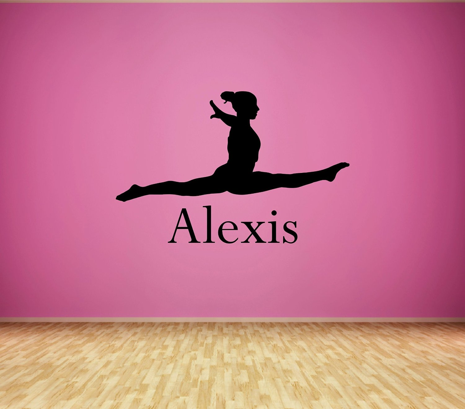 Custom Name Dance Wall Decal - Boys Girls Personalized Name Dancer Wall Sticker - Custom Name Sign - Custom Name Stencil Monogram - Boys Girls Room Wall Decor