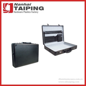 Black Aluminum Briefcase Carry Business Lock Attach Case ...