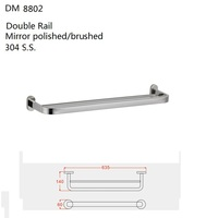 Domo Factory Customized Double Towel Bar/ Towel Rod / Towel Rail DM8802