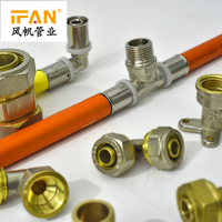 Wholesale Brass Fittings Copper Plumbing Parts names image PEX Pipe Fitting for floor heating pex pipe