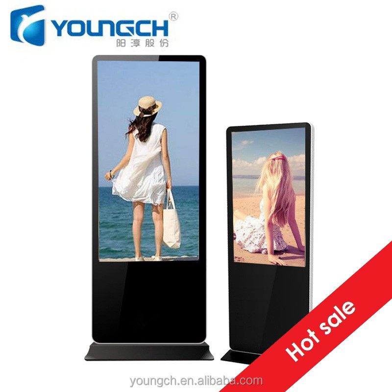 New design touch totem interactive multimedia screen high value advertising board for waiting rooms and menu 43 inch screen tft