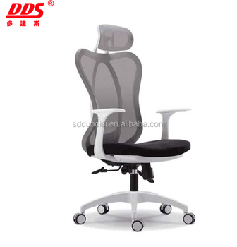 2018 New Design Wholesale Modern Design New Clear Plastic Chair Korea Mesh  Modern Ergonomic Office Chair