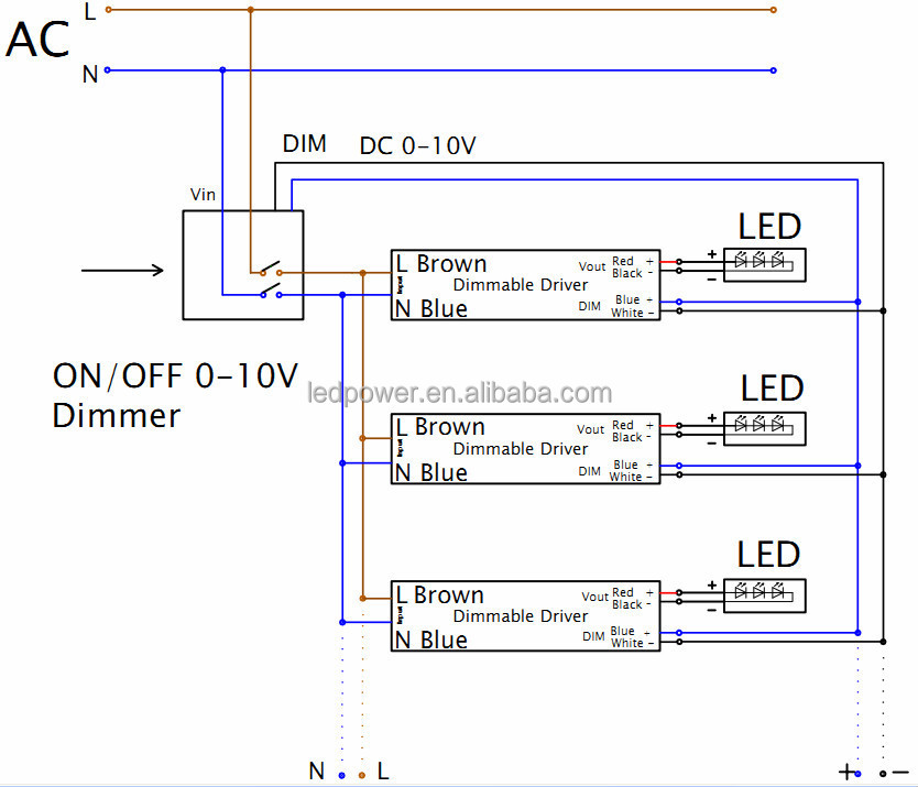 0 10v Dimming Wiring Diagram | Wiring Diagram  V Led Dimmer Switch Wiring Diagrams on