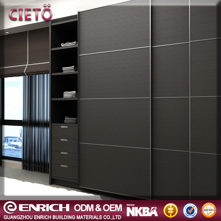 New interesting cheap price modern bedroom aluminum cloakroom walking closet systems sliding door wardrobe