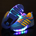 2016 Child Heelys wheelys Girls Boy LED Light Heelys Children Roller Skate Shoes Kids Sneakers With
