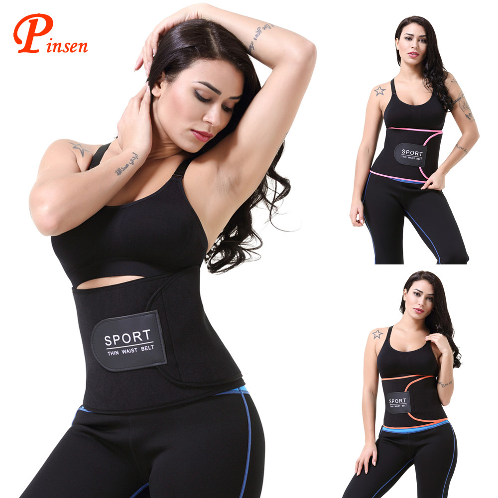 Gratis Monster Workout Zweet Taille Riem Zweet Riem Taille Trimmer Zwart Roze Oranje Taille Trainer Afslanken Sport Private Label