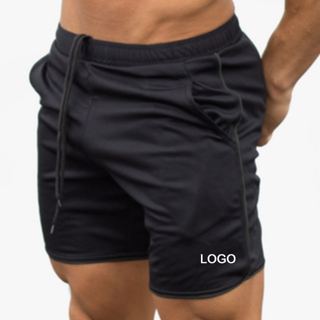 Custom 100% Polyester Fitness Sports Shorts Mens Gym Shorts