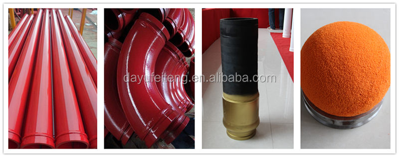 Dn125mm Concrete Pump Delivery Pipe For Construction