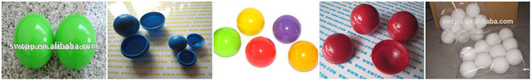 Various colour hard plastic small balls in different size