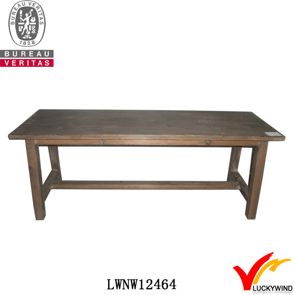 solid natural aged wood skin fancy dining tables