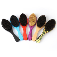 Wood Curved Wave Brush 100% boar bristle Hair Brush Wholesale