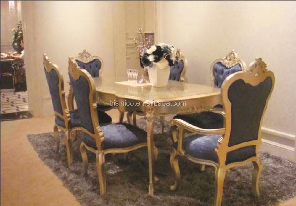 Conception Fleurie Serie Salle A Manger Ensemble Carre Table Et Chaises Royale