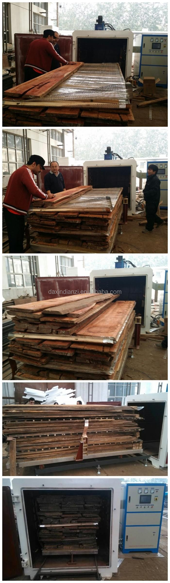 RF vacuum timber drying kiln for all kind of wood