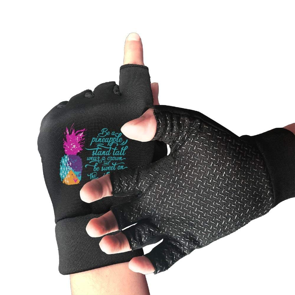 Liangrong Hui Be A Pineapple Unisex Half-finger Non-slip Gloves For Exercise Gym Cycling
