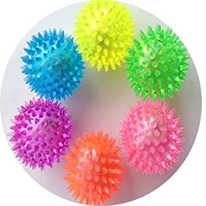 6 pcs Mini Light Up Flashing Spike Balls with LED flash light up for fun/Games