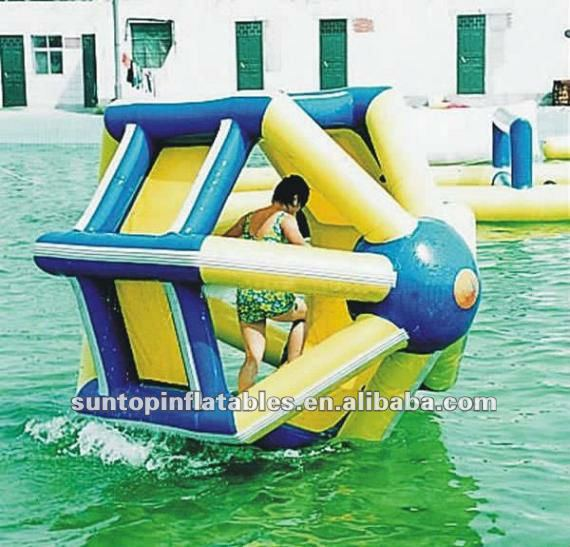 durable PVC tarpaulin inflatable water barrel for walking on the water/sea
