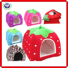Creative cheap price sofe comfortable strawberry shaped pet bed