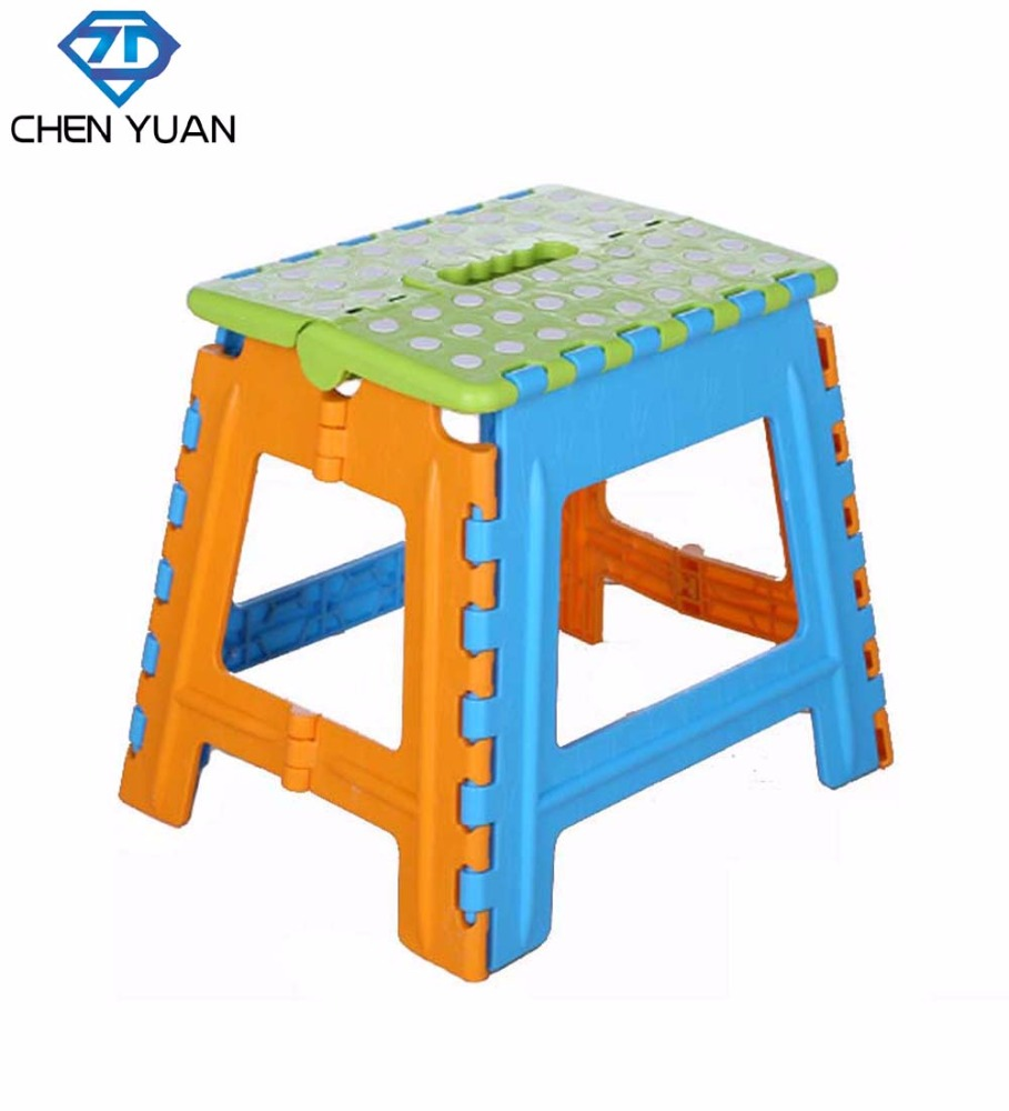 cheap stackable plastic foldable garden sitting stool seat chair square collapsible/plastic folding toilet step stool for kids