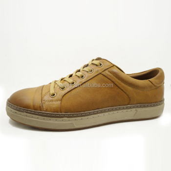 handmade outsole flat sole free sample man casual shoes