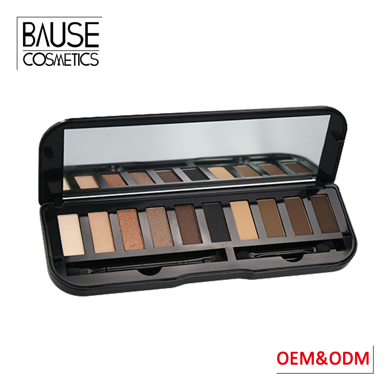 OEM beauty cosmetics 12 colors cheap eyeshadow pallet 12 color metal tin naked eyeshadow palette